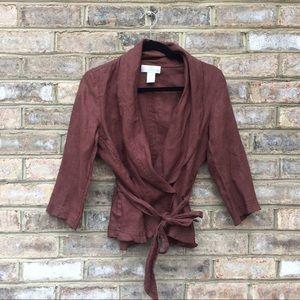 Soft Surroundings   Linen Wrap Cardigan